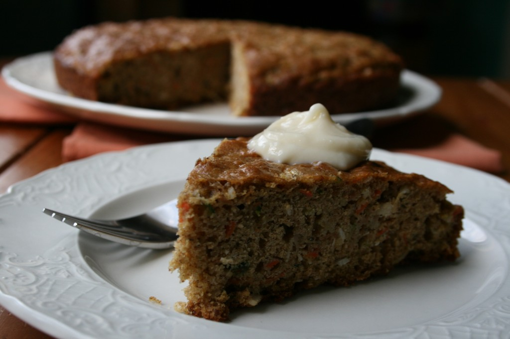 Zucchini Apple Carrot Coconut Sweet Bread With Cream Cheese Icing