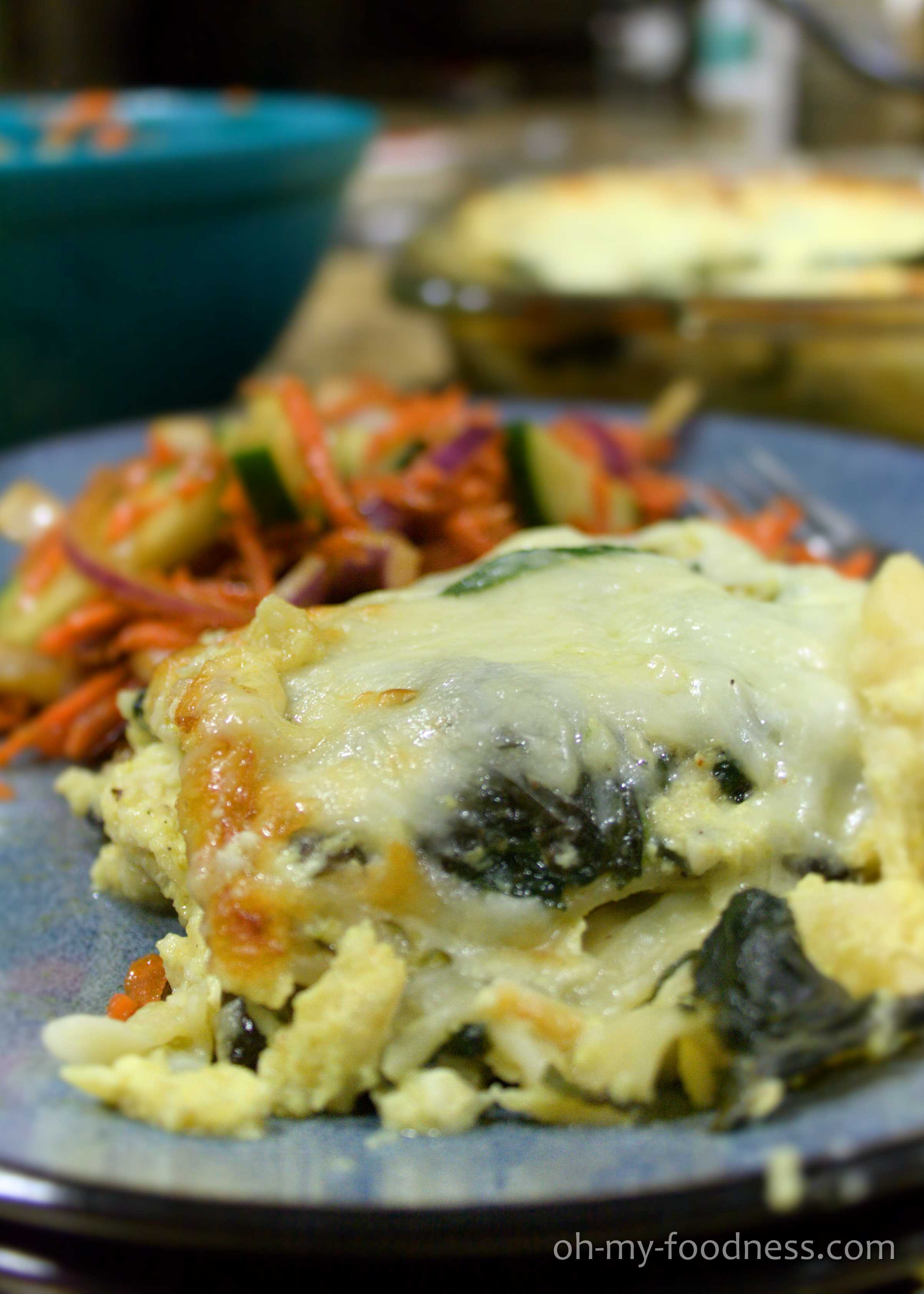 Curried Veggie White Lasagna | Oh My Foodness!