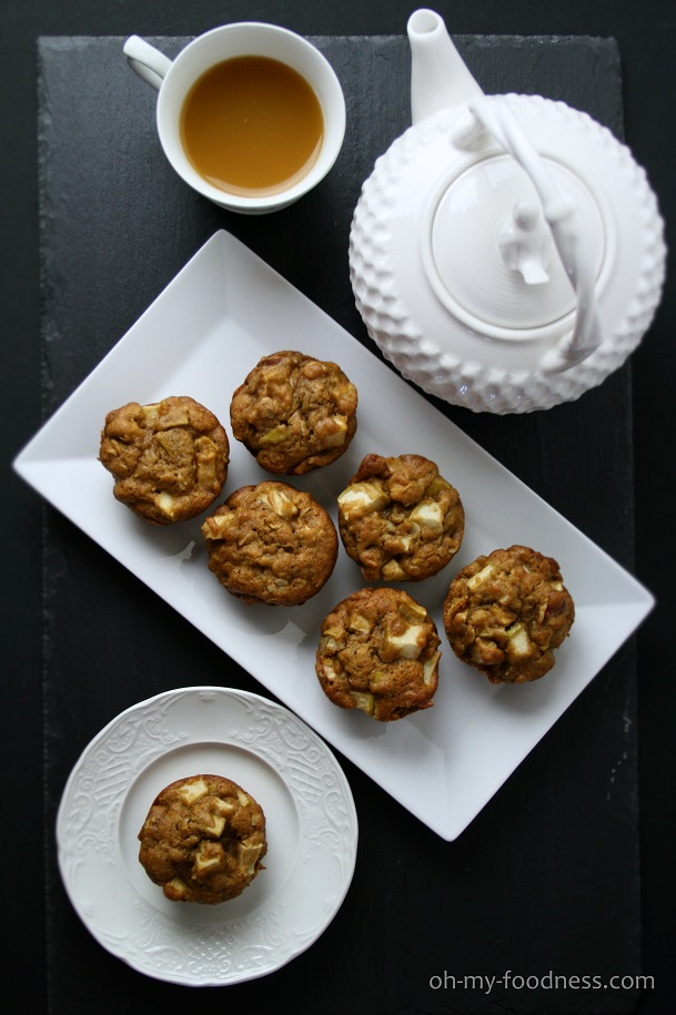 Apple Muffins with DIY Caramel Sauce | OMF!