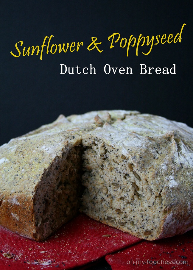 Sunflower Amp Poppyseed Dutch Oven Bread Oh My Foodness